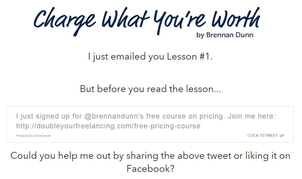 Brennan Dunn Confirmation Thank You Page