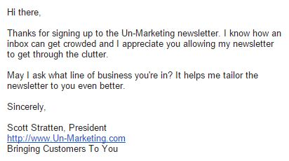 UnMarketing Final Welcome Email